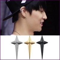 | Star World。Earring | GOT7 JB 同款立體長十字耳釘耳環 (單支價)