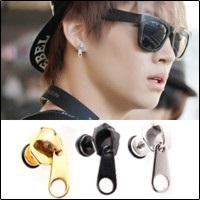 GOT7 JB 同款韓國크래커 個性拉鍊造型耳環 (單支價)