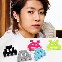   Star World。Earring    INFINITE 成烈 同款糖果色積木造型耳釘耳環 (一對)