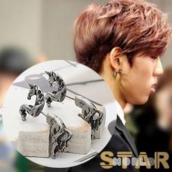   Star World。Earring   INFINITE 東雨 同款獨特麒麟造型耳釘耳環 (單支價)