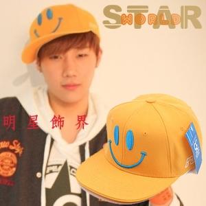INFINITE 聖圭 同款嘻哈風格彩色微笑棒球帽
