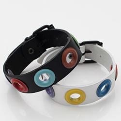| Star World。Bracelets | Infinite 成烈 同款繽紛色彩中空線圈皮革手環手鍊