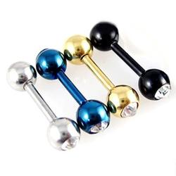 | Star World。Piercing |  TVXQ 東方神起 JYJ 金在中 同款黑色啞鈴鑲鑽耳骨穿刺耳環  (單支價)