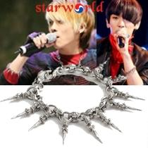   Star World。Bracelets    SHINee 鐘鉉 KEY 同款配復古吊墜式尖錐鈎扣手鍊