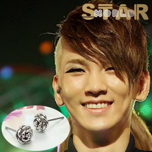   Star World。Earring   SHINee Key Roseday 同款時尚復古玫瑰耳釘耳環 (單支價)
