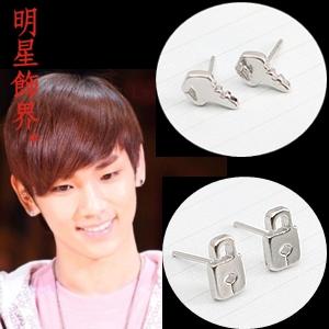 | Star World。Earring |  SHINee Key 同款鑰匙鎖頭耳釘耳環 (單支價)