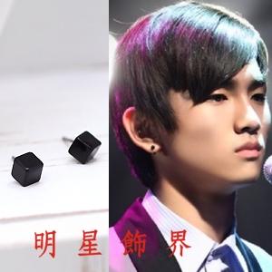   Star World。Earring    SHINee Key 2PM 黃燦盛 精巧迷人小立方體耳釘耳環(單支價)