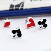 SHINee Key 同款撲克標誌耳釘耳環 (單支價)