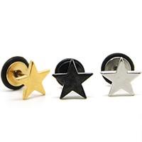 | Star World。Piercing |  少女時代 太妍 JYJ 有天  B.A.P 力燦 同款簡約風格星星穿刺耳釘耳環 (單支價)