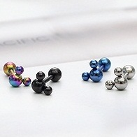 SNSD 少女時代 太妍 流行女星 寶兒 同款迷你米奇彩色穿刺耳環 (單支價)