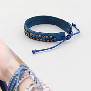 VIXX 同款韓國루키즈復古質感天然皮革手感手環
