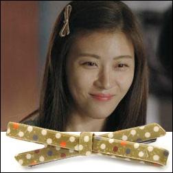 奇皇后 河智苑 愛你的時間 同款斑點蝴蝶髮夾髮飾