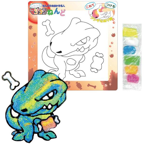 【日本發掘名人】創意拼貼畫-不思議黏土(恐龍)