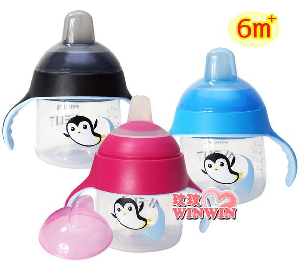 AVENT 企鵝鴨嘴吸口水杯200ML ~ 六個月以上寶寶使適用,輕鬆吸、不漏水,幫助寶寶輕鬆轉換水杯