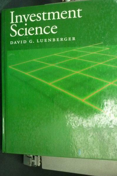 【書寶二手書T9╱科學_ZIU】Investment Science_Luenberger, David G.