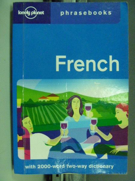 【書寶二手書T4╱語言學習_GEQ】French: Lonely Planet Phrasebook_Michael Janes