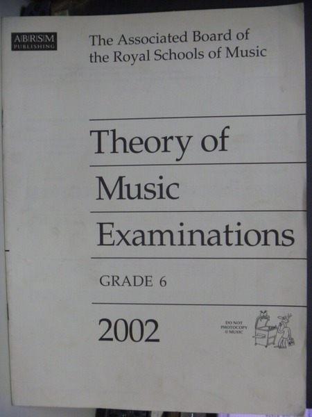 【書寶二手書T6╱音樂_YII】Theory of Music Examinations(GRADE 6)