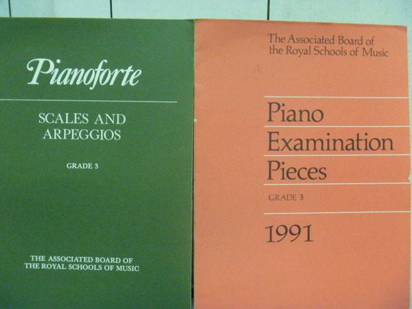 【書寶二手書T7╱音樂_PPZ】Piano Examination Pieces_2本合售