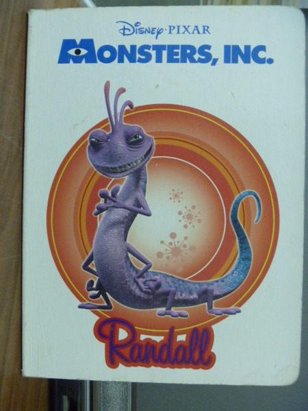 【書寶二手書T4╱少年童書_JEA】Monsters ,INC. Randall_Melissa Lagonegro_書側橘