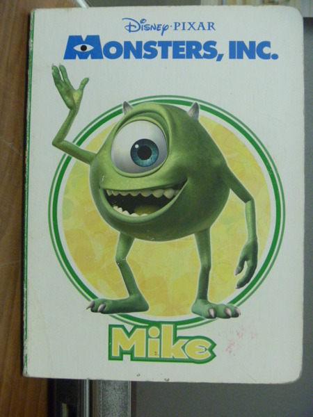 【書寶二手書T3╱少年童書_JEA】Monsters ,INC. Mike _Melissa Lagonegro _書側綠