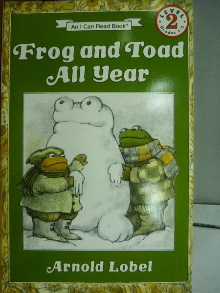 【書寶二手書T1╱少年童書_KMI】Frog and Toad All Year_Lobel_英文兒童繪本