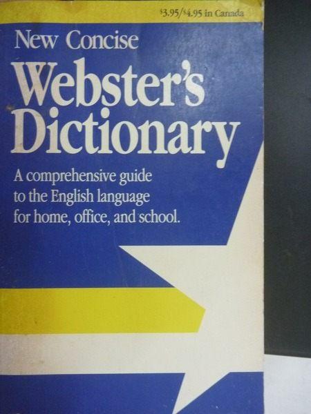 【書寶二手書T6╱字典_OAT】New Concise Websters Dictionary