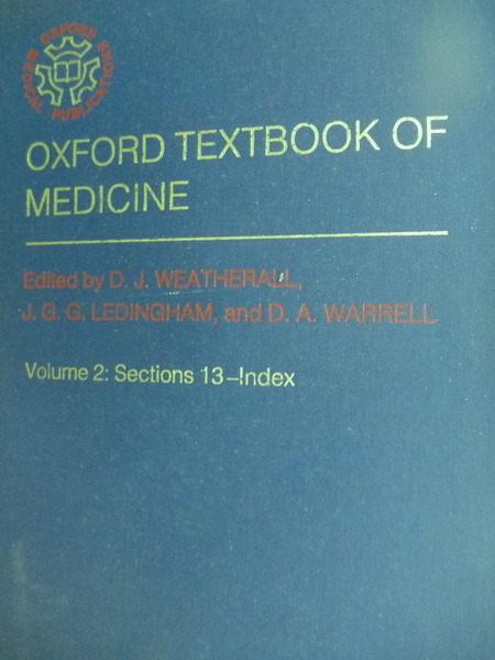 【書寶二手書T7/大學理工醫_QII】Oxford Textbook of Mediceine_Weatherall_V
