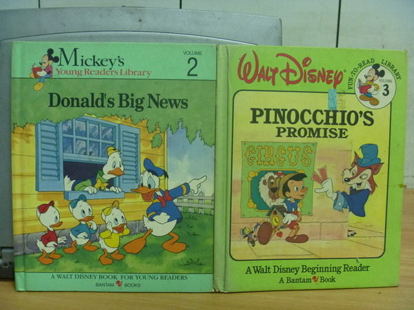 【書寶二手書T7/少年童書_YGU】Walt Disney迪士尼_Donalds Big News等_2本合售