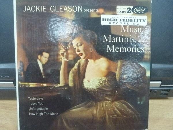 【書寶二手書T7/音樂_NSG】Martinis and Memories_Jackie Gleason_1黑膠唱片_不