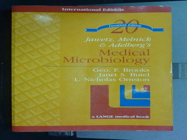 【書寶二手書T4/大學理工醫_PNE】Medical Microbiology_GEORGE F. BROOKS
