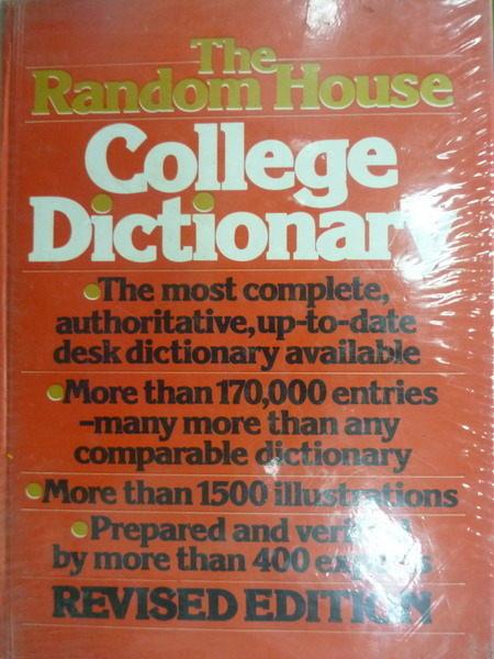 【書寶二手書T9/字典_ZFW】The Random Houe_College Dictionary_1984年