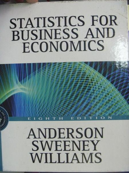 【書寶二手書T3/大學商學_QGG】Statistics for Business and Economics_Will