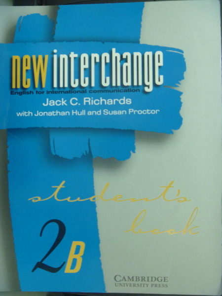 【書寶二手書T9/語言學習_QFT】New Interchange_Jack_Richards, Jack