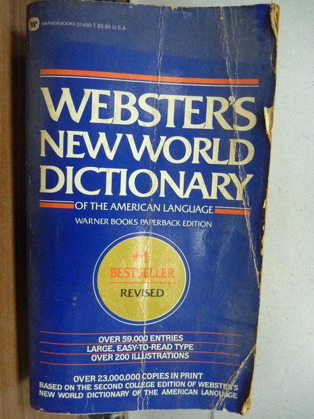 【書寶二手書T9/語言學習_IBG】Websters New World Dictionary