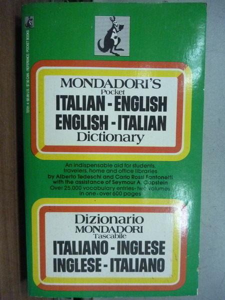 【書寶二手書T7/語言學習_IBG】Italian-English English-Italian Dictionary