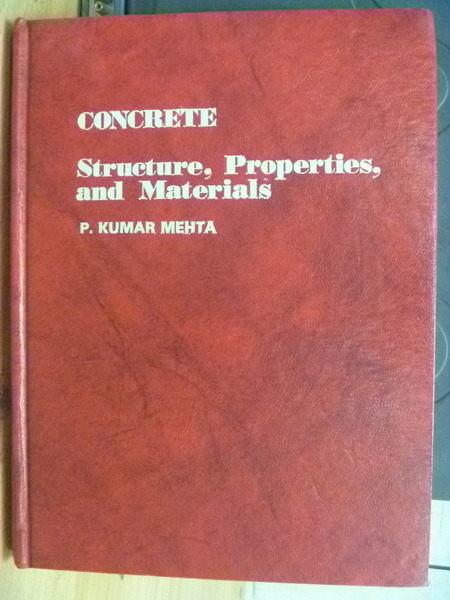 【書寶二手書T5/大學理工醫_ZHL】Concrete_Structure Properties and Materia