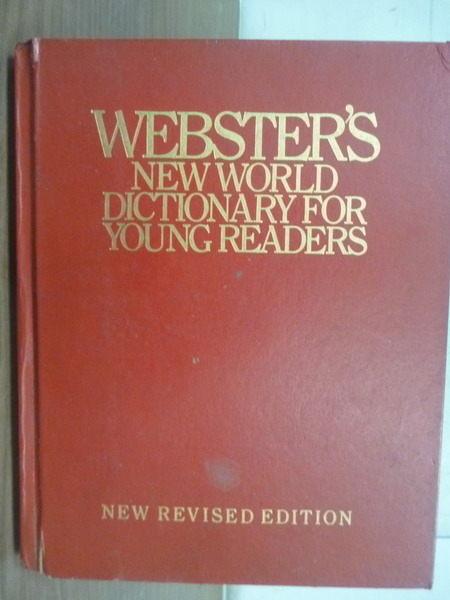 【書寶二手書T5/字典_XEY】Websters New World Dictionary for Young Read
