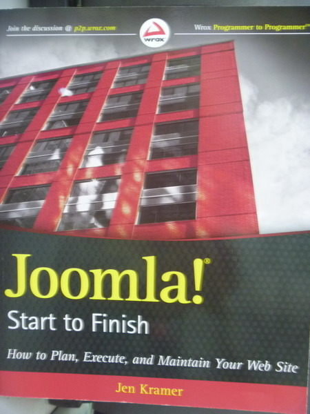 【書寶二手書T3/網路_QKP】Joomla! Start to Finish_Jen Kramer