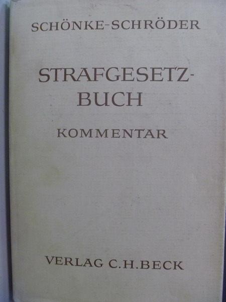 【書寶二手書T9/大學法學_QLD】Schonke-schroder StGB_Verlag c.h.beck