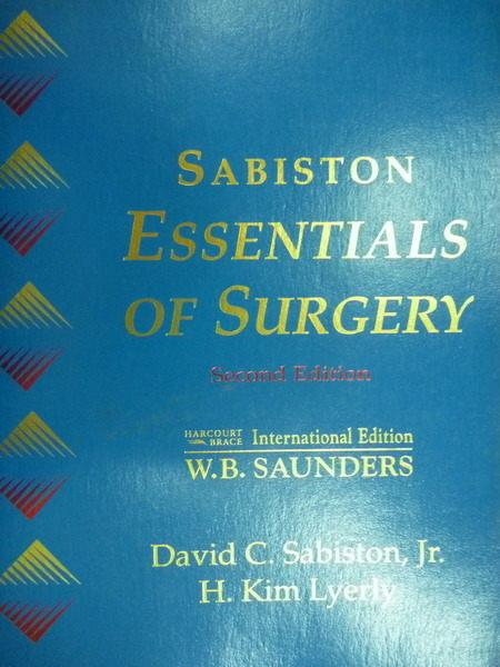 【書寶二手書T3/大學理工醫_QIG】Sabiston Essentials of Surgery_W. B. Saun