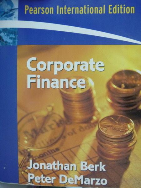 【書寶二手書T4/大學商學_QBD】Corporate Finance_Peter DeMarzo