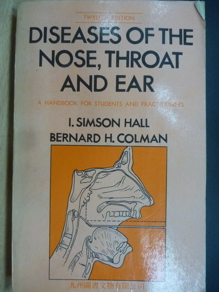 【書寶二手書T9/大學理工醫_OSZ】Diseases of The Nose Throat and Ear_Berna