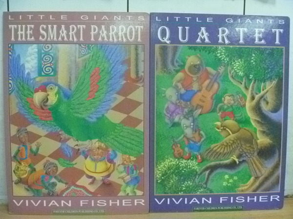 【書寶二手書T8/兒童文學_ZAM】Little Giants_The Smart Parrot_Quartet_2本合