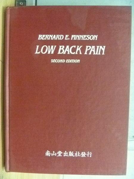【書寶二手書T9/大學理工醫_RHI】Low Back Pain_1980年