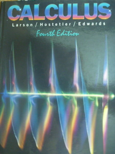 【書寶二手書T7/大學商學_QDO】Calculus_Larson/Hostetler/Edwards_4/e