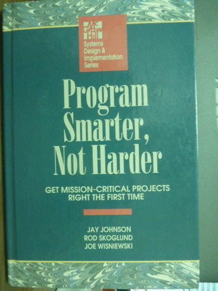 【書寶二手書T9/電腦_QHK】Program Smarter , Not Harder_JAY JOHNSON , e