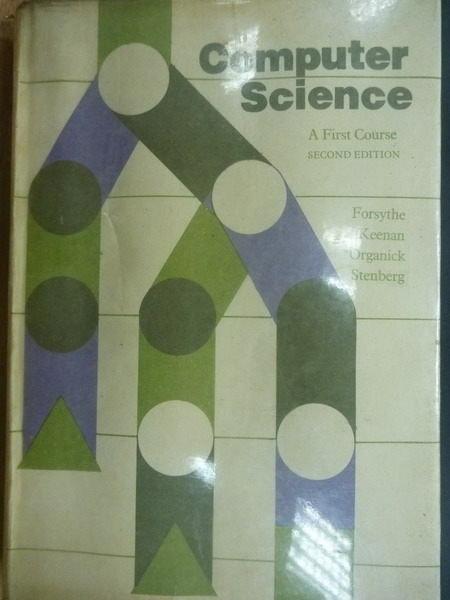 【書寶二手書T6/大學理工醫_QIM】Computer Science_1975年