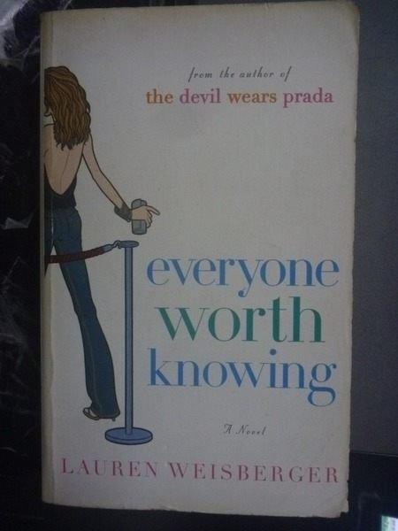 購買書籍:Everyone worth knowing_Lauren Weisberger.