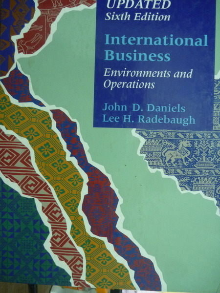 【書寶二手書T3/大學商學_QXY】International Business-Environments..._Dan