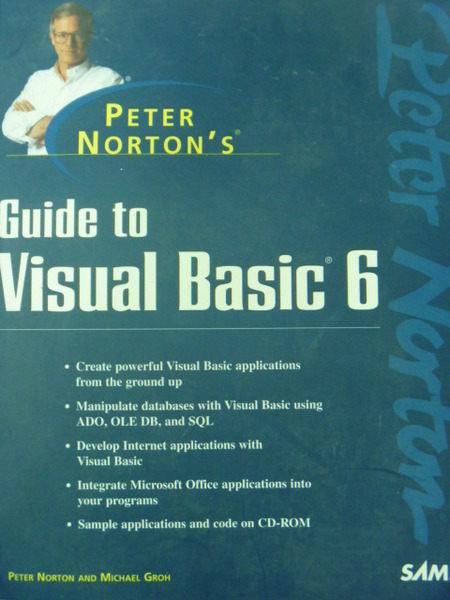 【書寶二手書T9/大學資訊_QXE】Guide to Visual Basic 6_Peter Norton